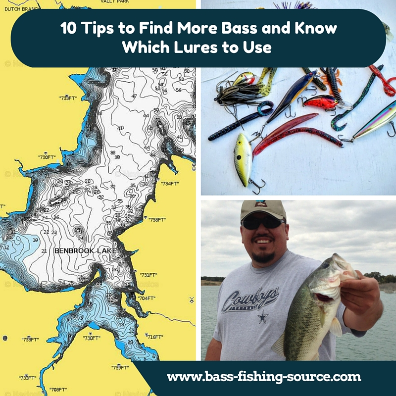 Find largemouth bass and use the right lures