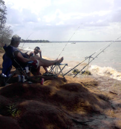 Bank Fishing At Texoma