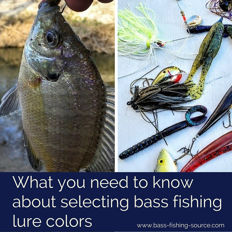 How select bass lure colors