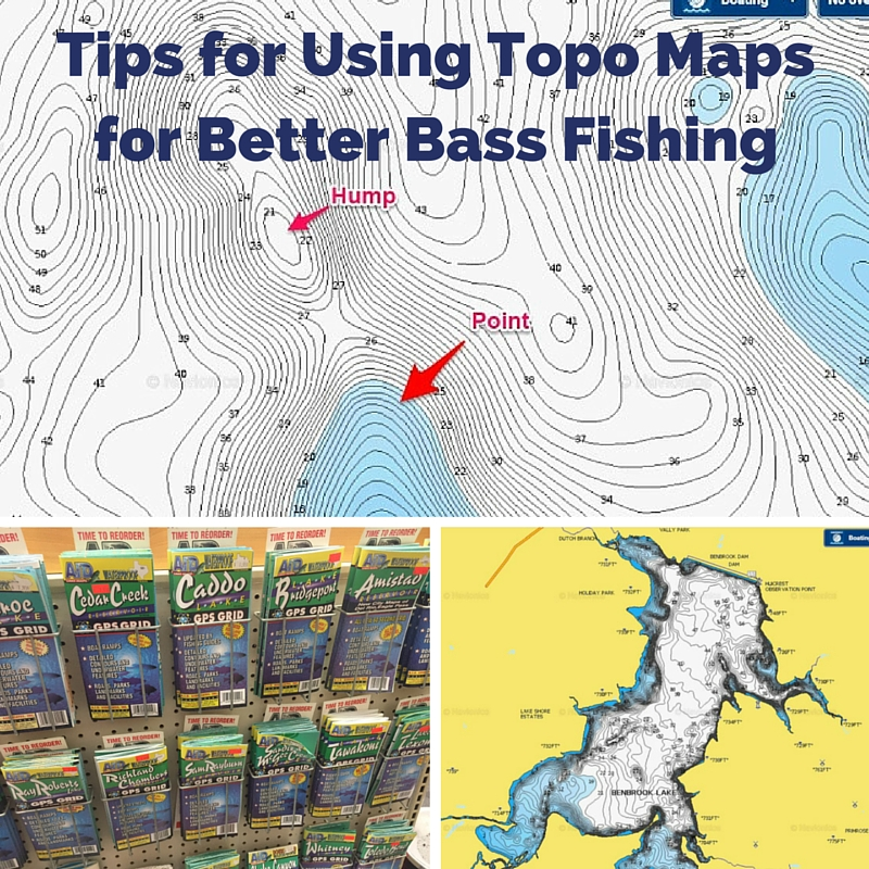 Topographic Lake Maps for Bass Fishing
