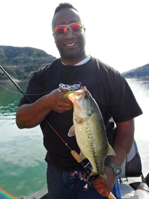 2/18/112 - Lake Piru,CA. This was my first bass of the year which was a three pounder caught on a Watermelon Candy Jackall flickshake.