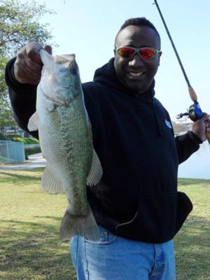2/25/12 - 2.9lb bass caught a private lake in Irvine, CA.  Caught this one D-Shotting a 5.8 Cinnamon Jackall Flickshake using a BPS combo.