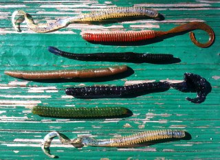 An arsenal of plastic worms