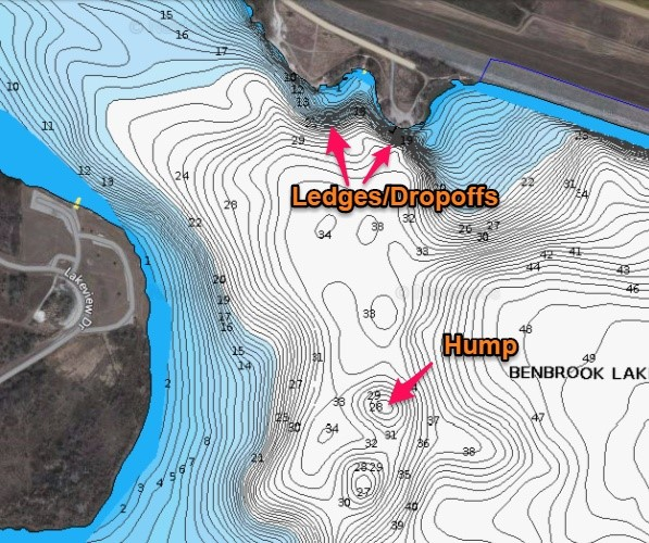 Identify structure on lake maps