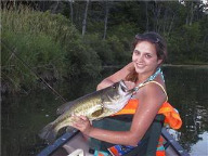 girls bass fishing