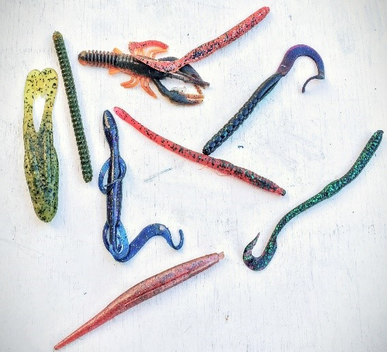 Soft plastic lures for bass